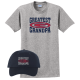 Greatest Grandpa Light Steel Tee and Hat | All in the Family