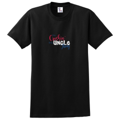 """Crushin Uncle"" Black Tee"