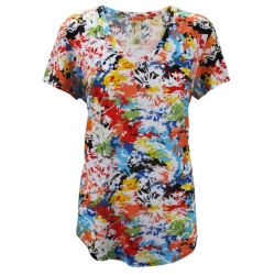 Women's 'Wild Flower Mix' Scoop-neck Shirt, Printed, by A Walk In The Park®