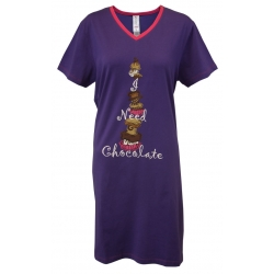 I Need Chocolate - V-Neck Sleep Shirt