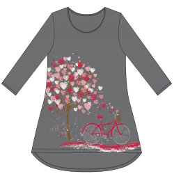 """Spread Love"" Charcoal Tunic 