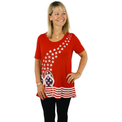 Flag Flip Flop Sleeve Tunic - Mac & Belle