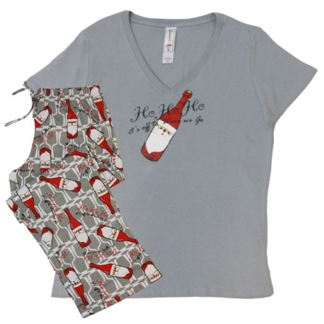 Women's 'HO HO HO' Holiday Pajama Set, by Needy Me Sleepwear®