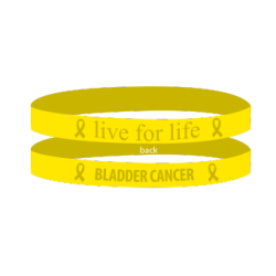 Bladder Cancer - Yellow 'Live For Life' Bracelet