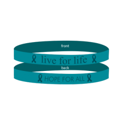 Cervical Cancer Ovarian Cancer Teal - 'Live For Life' Bracelet