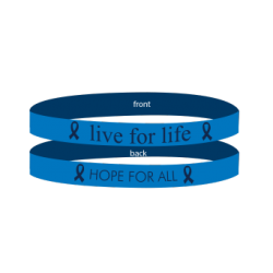 Colon Cancer - Thyroid - Blue - 'Live For Life' Bracelet