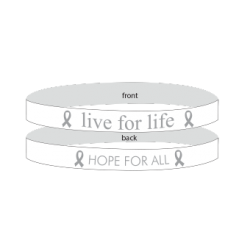 Lung Cancer White - 'Live For Life' Bracelet