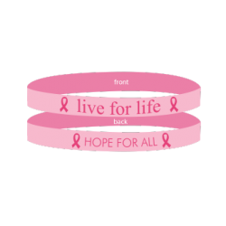Breast Cancer Pink - 'Live For Life' Bracelet