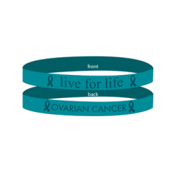 Ovarian Cancer Teal - 'Live For Life' Bracelet