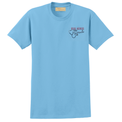 """Real Heros Wear Scrubs"" Light Blue Tee"