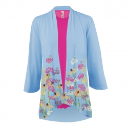 """Cottage Garden"" 3/4 Sleeve Kimono, by A Walk In the Park®"