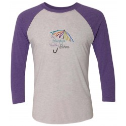 """Storm"" Purple Raglan Tee, by Live for Life 