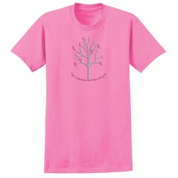 """Ribbon Tree"", Printed on Pink, by Live For Life Hope For All®"