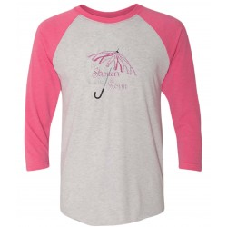 """Storm"" Pink Raglan Tee, by Live for Life 