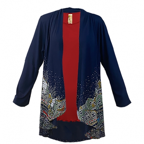 Harbor Lights Kimono, by A Walk In The Park®