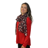 Bowling Pin Santa Scarf , by A Walk In The Park®