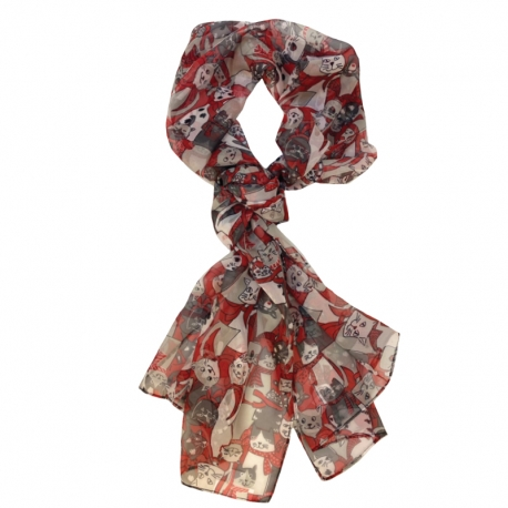 Gone to the Cats Scarf, by A Walk In The Park®