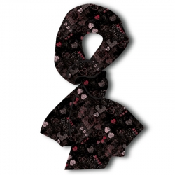 Lacey Heart Patchwork Scarf, by A Walk In The Park®