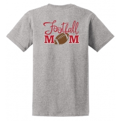 Football Mom - Light Steel Tee