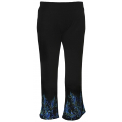 Women's 'Proud Peacock' Black Palazzo Pants, by A Walk In The Park®