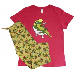 Women's 'Sunning Gator' Pajama Sleepwear Set, by Needy Me Sleepwear®