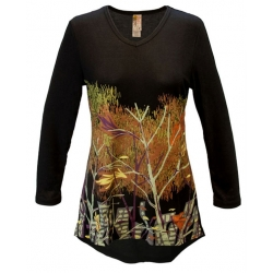 Reflections V-Neck Long Sleeve Tunic Top, by A Walk In The Park®