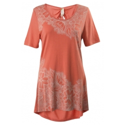 Floral Lace - Cinched Back Tunic