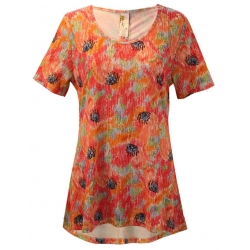Ikat Poppy Cinched Back Tunic Top, by A Walk In The Park®