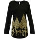 Women's 'Sprouting Antlers' Long Sleeve Holiday Swing Top, by Mac & Belle®