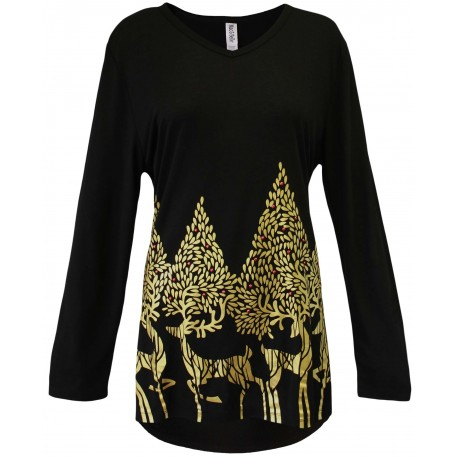 Sprouting Antler Holiday Swing Top