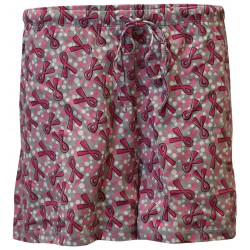 Women's 'Dots & Ribbons' Breast Cancer Sleep Shorts, by Live For Life Hope For All®