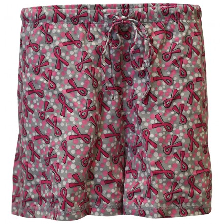 'Dots & Ribbons' Women's Breast Cancer Sleep Shorts, by Live For Life Hope For All®