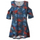Painted Petals Cold Shoulder Tunic Top, by A Walk In The Park®