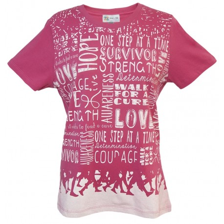 Women's 'Walk BC' Breast Cancer T-Shirt, by Live For Life Hope For All®