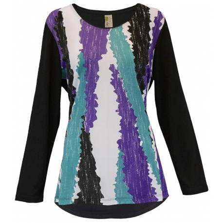 Women's 'Abstract Colors' Long Sleeve Swing Top, by A Walk In The Park®