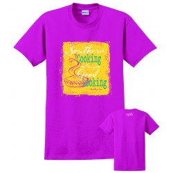 Southern-ism Southern Cooking Metallic Pink T-Shirt