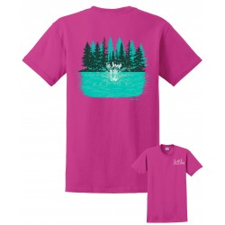 Lake-ism Jump In Lake Metallic Pink T-Shirt