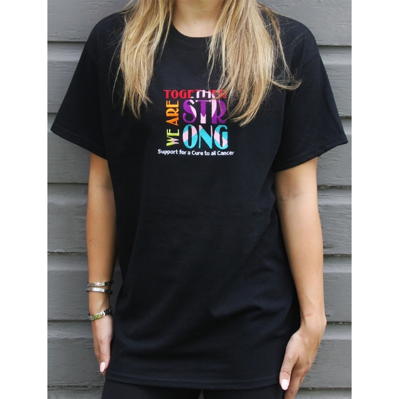 Together Strong Cancer Awareness T-Shirt | Live For Life Hope For All