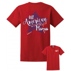 'All American Mama' Red Tee