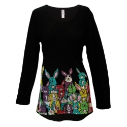'Easter Egg Bunnies Long Sleeve Tunic Top, by Mac & Belle®