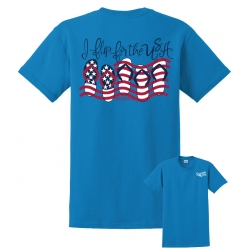 Southern-ism Flip For USA Sapphire T-Shirt
