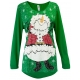 Santa Snowmen Women's Holiday Swing Top, by Mac & Belle