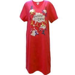 Women's 'Dreaming Cure' Cancer Awareness Sleep Shirt Nightgown, by Live For Life Hope For All®