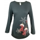 Women's 'Looking Up' Long Sleeve Holiday Swing Top, by Mac & Belle®