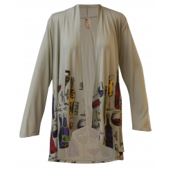 Women's 'Wineology' Long Sleeve Kimono, by A Walk In The Park®