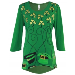 Out of Hats Luck St. Patricks Day Tunic Top - Mac & Belle®