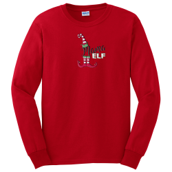 """Mama Elf"" Red Long Sleeve Tee"