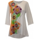 Women's 'Love Flowers' 3/4 Sleeve Inspirational Swing Top, by Live Who You Are®