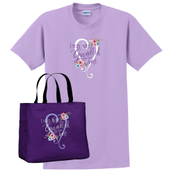 """Need More Grandkid Time"" Orchid and Purple Bag"