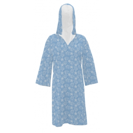Women's 'Coral Shells' Beach Cover Up, Printed, by Needy Me Sleepwear®